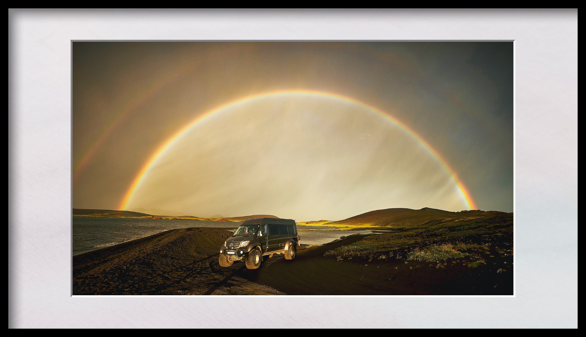 Under the rainbow in Iceland